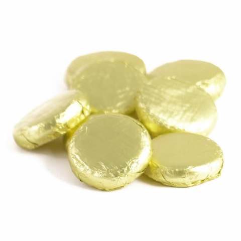 Lemon Cremes - Fondant Creams Yellow Foiled Whitakers Chocolates
